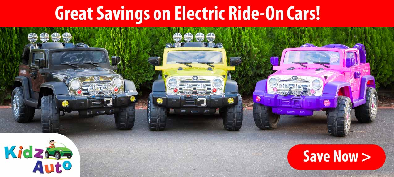 Great Savings on Electric Ride-On Cars!